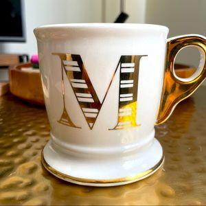 "Anthropologie Monogram ""M"" Mug"